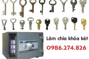 Làm chìa khóa két sắt, két bạc tại nhà ở