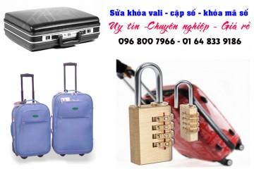 Sửa khóa vali, mở khóa cặp số, mã số tại nhà
